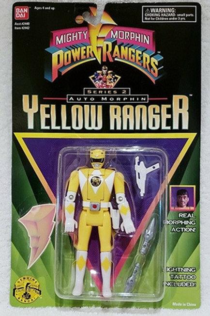 Mighty Morphin Power Rangers Auto Morphin Aisha Yellow Ranger Action Figur