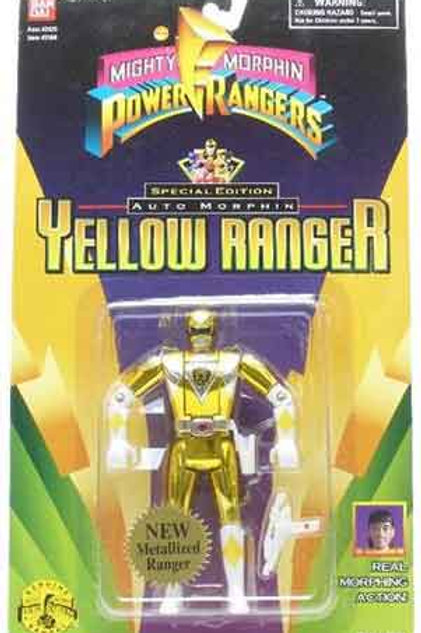 Mighty Morphin Power Rangers Special Edition Metallic Auto Morphin Yellow Ranger