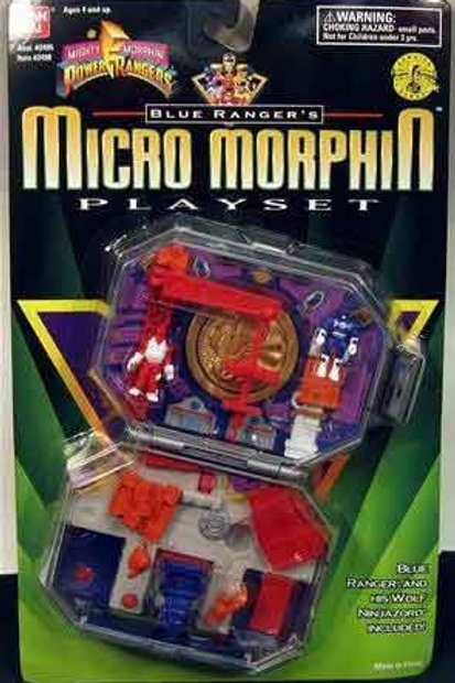 Mighty Morphin Power Rangers Blue Ranger's Micro Morphin Playset