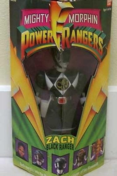 "Mighty Morphin Power Rangers Zach Black Ranger 8"" Action Figure"