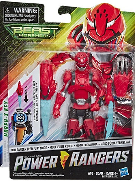 "Power Rangers Beast Morphers Red Ranger (Red Fury Mode) 6"" Action Figure"