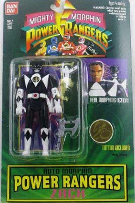 Mighty Morphin Power Rangers Auto Morphin Zach Black Ranger Action Figure