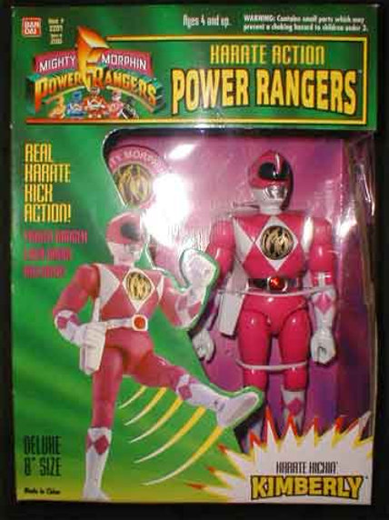 "Mighty Morphin Power Rangers Karate Action Kimberly Pink Ranger 8"" Action Figure"