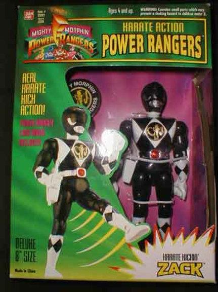 "Mighty Morphin Power Rangers Karate Action Zach Black Ranger 8"" Action Figure"