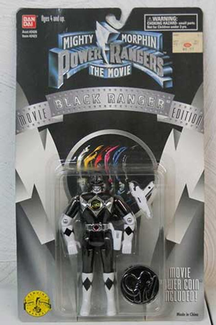 """Mighty Morphin Power Rangers 5.5"""" Movie Edition Standard Black Ranger Action Fig"""