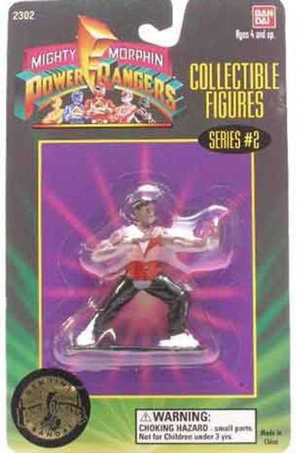 "Mighty Morphin Power Rangers 3"" Collectible Figures Series 2 Zach"