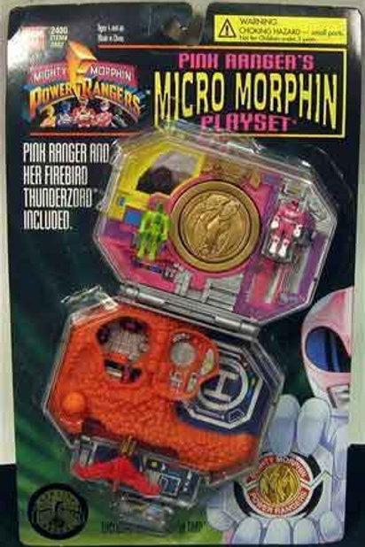 Mighty Morphin Power Rangers Pink Ranger's Micro Morphin Playset