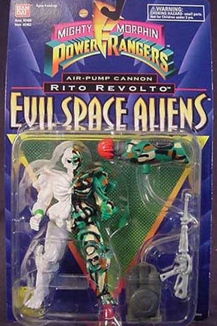 "Mighty Morphin Power Rangers Evil Space Aliens 5.5"" Air-Pump Cannon Rito Revolto"