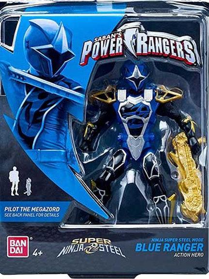 Ninja Super Steel Mode Blue Ranger Action Hero