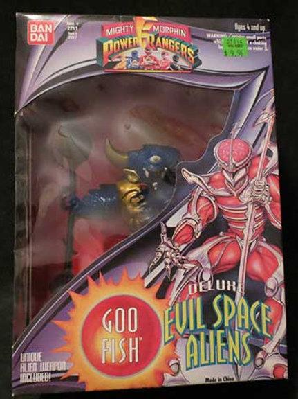 "Mighty Morphin Power Rangers Deluxe Evil Space Aliens Goo Fish 8"" Action Figure"