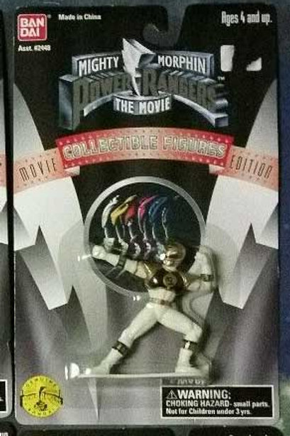 "Mighty Morphin Power Rangers The Movie 3"" White Ranger Collectible Figure"