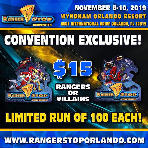Rangerstop  Convention 2019 Exclusive Pin Rangers and Villain Set of 2