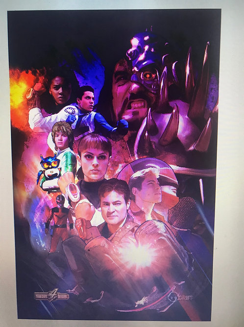 Rangerstop  Convention Exclusive 11x17 Print Time Force by Griff Art