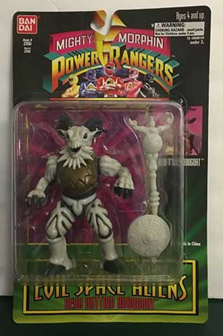 "Mighty Morphin Power Rangers Evil Space Aliens 5.5"" Head Butting Robogoat"