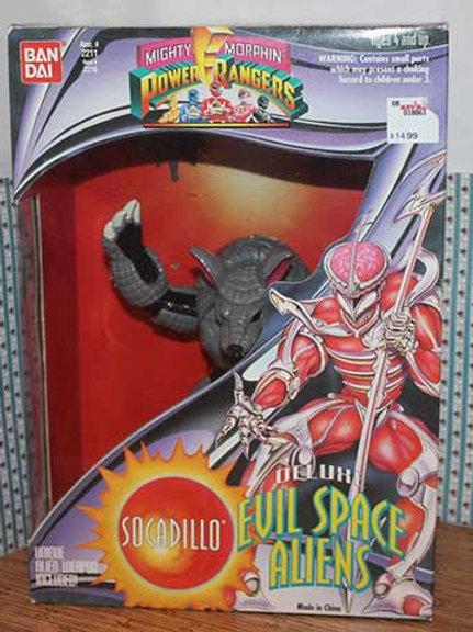 "Mighty Morphin Power Rangers Deluxe Evil Space Aliens Socadillo 8"" Action Figure"