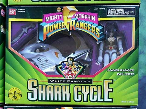 Mighty Morphin Power Rangers White Ranger's Shark Cycle