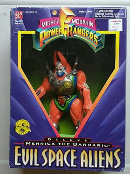 "Mighty Morphin Power Rangers Evil Space Aliens Merrick The Barbaric 8"" Action Fi"