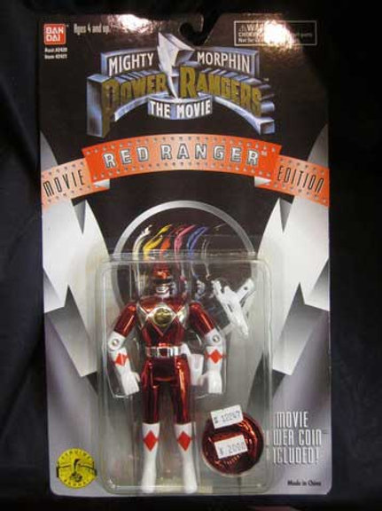 "Mighty Morphin Power Rangers 5.5"" Movie Edition Standard Red Ranger Action Figur"