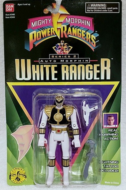 Mighty Morphin Power Rangers Auto Morphin Tommy White Ranger Action Figure
