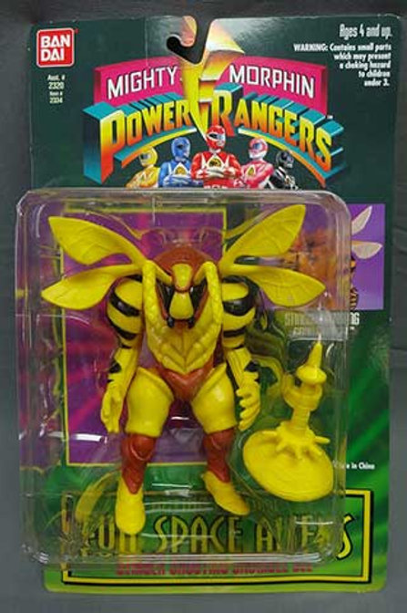 "Mighty Morphin Power Rangers Evil Space Aliens 5.5"" Stinger Shooting Grumble Bee"