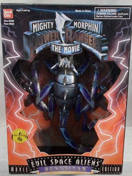"Mighty Morphin Power Rangers 8"" 1995 Movie Edition Space Aliens Scorpitan"