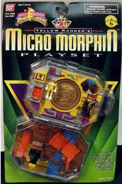 Mighty Morphin Power Rangers Yellow Ranger's Micro Morphin Playset