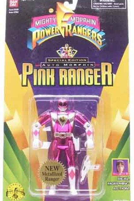 Mighty Morphin Power Rangers Special Edition Metallic Auto Morphin Pink Ranger