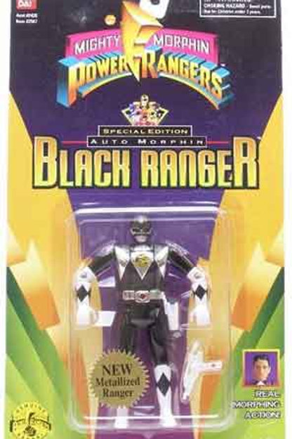 Mighty Morphin Power Rangers Special Edition Metallic Auto Morphin Black Ranger