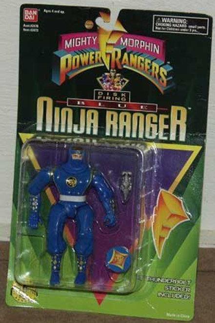 "Mighty Morphin Power Rangers 5.5"" Disc Firing Blue Ninja Ranger"