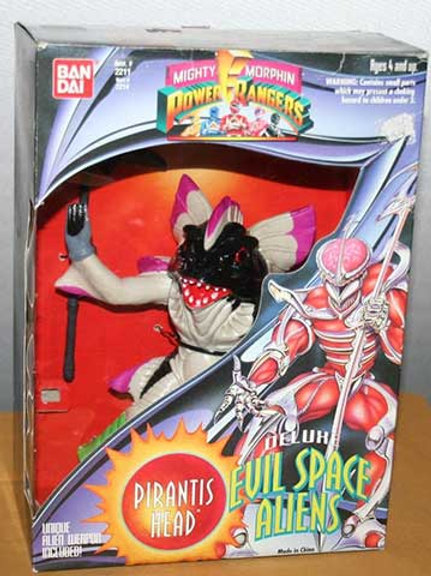 "Mighty Morphin Power Rangers Deluxe Evil Space Aliens Pirantis Head 8"" Action Fi"