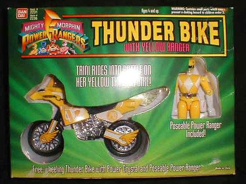 Mighty Morphin Power Rangers Thunder Bike with Yellow Power Ranger
