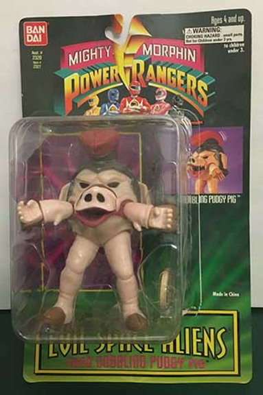 "Mighty Morphin Power Rangers Evil Space Aliens 5.5"" Food Gobbling Pudgy Pig"