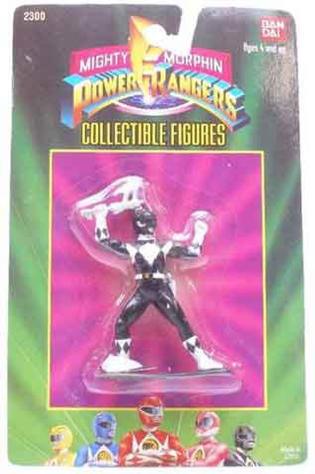 "Mighty Morphin Power Rangers 3"" Collectible Figures Series 1 Black Ranger"