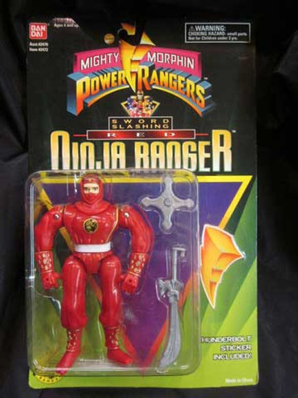 "Mighty Morphin Power Rangers 5.5"" Sword Slashing Red Ninja Ranger"