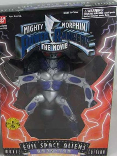 "Mighty Morphin Power Rangers 8"" 1995 Movie Edition Space Aliens Hornitor"