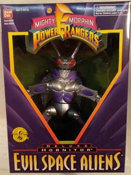 "Mighty Morphin Power Rangers Evil Space Aliens Hornitor 8"" Action Figure"