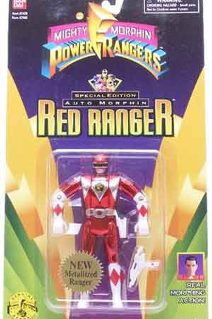 Mighty Morphin Power Rangers Special Edition Metallic Auto Morphin Red Ranger