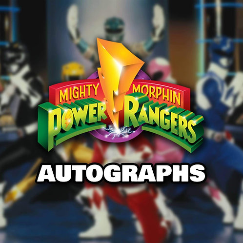 """1 Randomly Selected 8""""x10"""" Autograph from Mighty Morphin Power Rangers"""