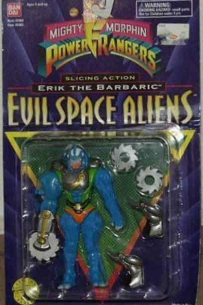 """Mighty Morphin Power Rangers Evil Space Aliens 5.5"""" Slicing Action Erik The Barb"""