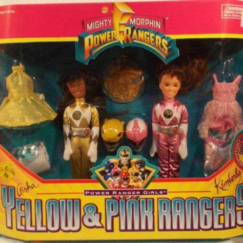 Mighty Morphin Power Rangers Girls Yellow & Pink Rangers
