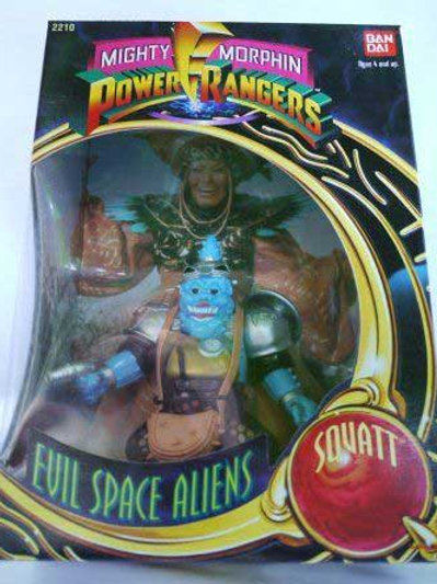 "Mighty Morphin Power Rangers Evil Space Aliens Squatt 8"" Action Figure"