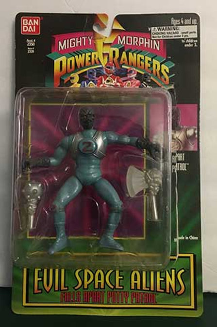 "Mighty Morphin Power Rangers Evil Space Aliens 5.5"" Falls Apart Putty Patrol"