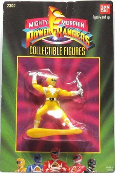 "Mighty Morphin Power Rangers 3"" Collectible Figures Series 1 Yellow Ranger"