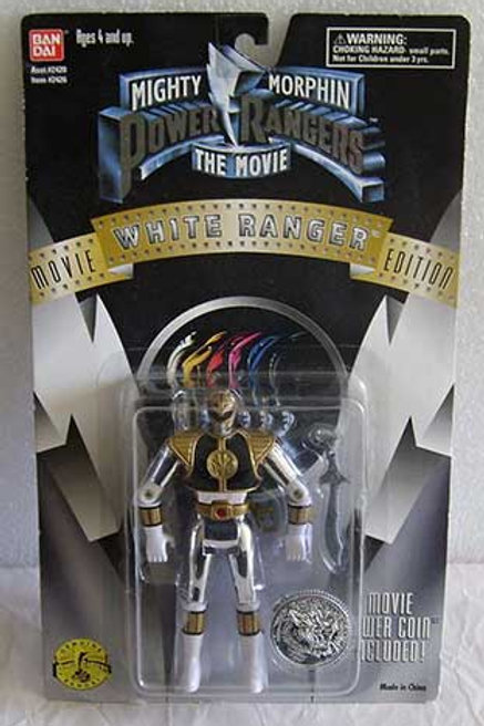 "Mighty Morphin Power Rangers 5.5"" Movie Edition Standard White Ranger Action Fig"