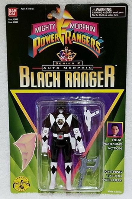 Mighty Morphin Power Rangers Auto Morphin Adam Black Ranger Action Figure
