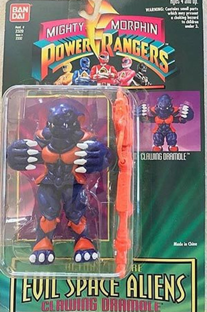 "Mighty Morphin Power Rangers Evil Space Aliens 5.5"" Clawing Dramole"