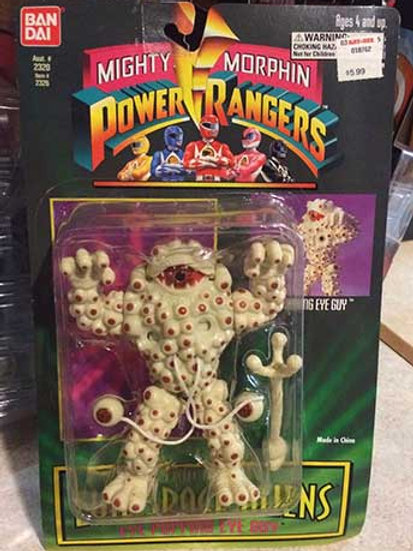 "Mighty Morphin Power Rangers Evil Space Aliens 5.5"" Eye Popping Eye Guy"