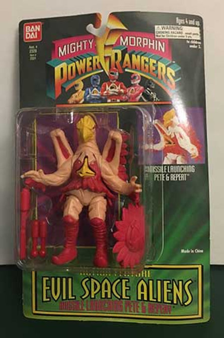 "Mighty Morphin Power Rangers Evil Space Aliens 5.5"" Missile Launching Pete & Rep"