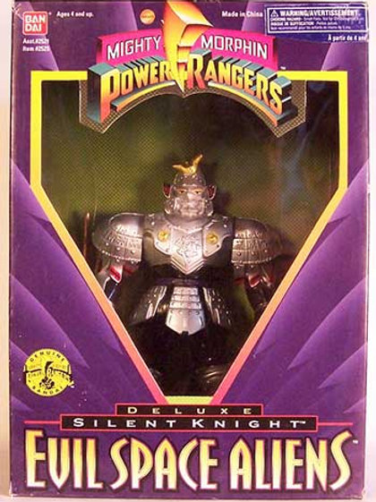 "Mighty Morphin Power Rangers Evil Space Aliens Silent Knight 8"" Action Figure"