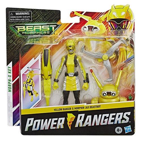 Power Rangers Beast Morphers Yellow Ranger & Morphin Jax Beastbot Action Figure